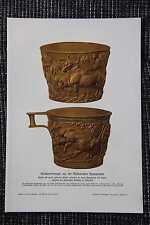 REGNl arte periodo decorativa dorata TAZZA stampa a colori di 1906 mykenische cultura