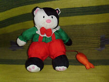 Department Dept 56 plush Christmas Cat with fish nylon soft stuffed animal toy