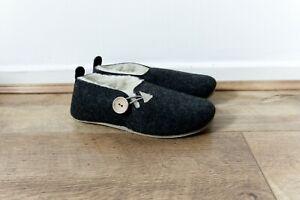 Warm, Comfortable And Light, Black Sheep Wool Felt Handmade with Anti-slip.