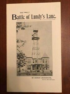 Battle of Lundy's Lane 25th July, 1814. Historical Study Niagara Falls, War 1812