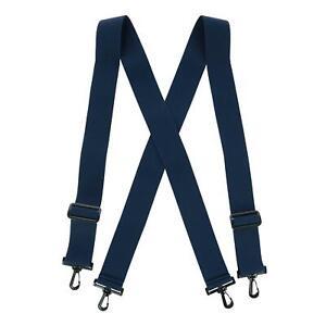 New CTM Men's Elastic X-Back Suspenders with Plastic Hook Ends