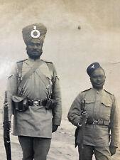 More details for india: 45th sikhs & 9th gurkha british indian army photo sikh punjab c.1890