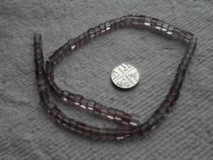 Strand Glass Cube Beads ~ 4mm ~ Smoke