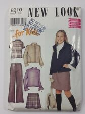 New Look Pattern # 6210 Size A 7 - 12 Uncut Sewing Pattern for Kids
