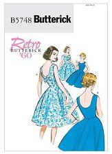 Fifties Sixties 50s 60s Dress Sewing Pattern Butterick B5748 Size 6 to 22 Retro 6-14