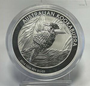 2014 10 OZ .999 Fine Silver AUSTRALIA $10 KOOKABURRA IN CAPSULE