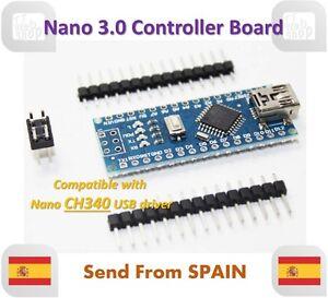Nano V3.0 Controller Board Atmega328 Compatible Arduino Nano CH340 USB Driver
