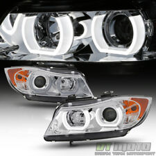 HID/Xenon Non-AFS 2006 2007 2008 BMW E90 3-Series Sedan LED 3D Halo Headlights