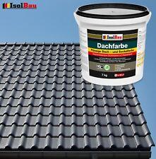 Dach- und Sockelfarbe Dachbeschichtung Dachlack 7 kg Anthrazit Polymermembran HQ
