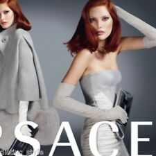 Iconic Chic COLLECTIBLE VAGUE VERSACE dove grey with side ruched chiffon Dress