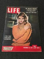 LIFE MAGAZINE NOVEMBER 25, 1957 ELSA MARTINELLI LASSIE THE MISSILE MAKERS