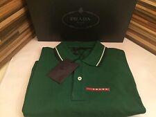 PRADA Polo Poloshirt Polohemd Kurzarm Grün XL NEU, PRADA Trendy Green Polo Shirt