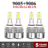Combo CREE LED Headlight Kits 9005+9006 6000K 3900W 585000LM LED Lamps Bulbs Set