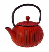 NEW Teaology Cast Iron Teapot Ribbed Red 500ml