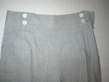 Womens Worth New York NWT $428 0 26 Dove High Waist Wide Leg Wool Gray Office
