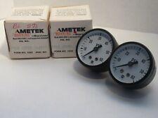 """NEW (LOT OF 2) AMETEK / USG P500 1-1/2"""" FACE 1/8"""" NPT 60psi PRESSURE GAUGE"""