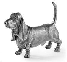 More details for hallmarked sterling silver basset hound model