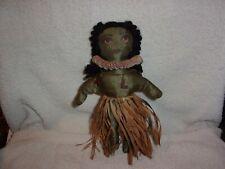 Vintage Stuffed Hawaiian Doll ~ Aloha