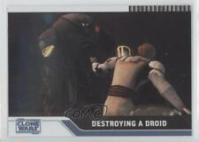 2008 Topps Star Wars: The Clone Wars Foil #28 Destroying a Droid /205 Card 0x1