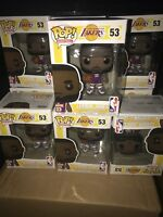 Funko POP ! Basketball THE KING ! Lebron James #53 Lakers Purple Jersey