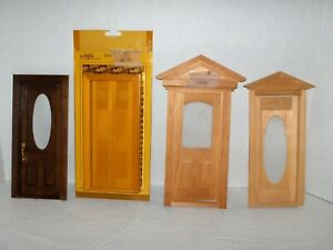 Dollhouse Miniatures, Houseworks, 4 Misc Doors, Used