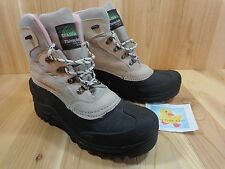 Itasca Winter Snow Boots Size 10 Gray Lutsen Leather Pink Thinsulate Lace Up