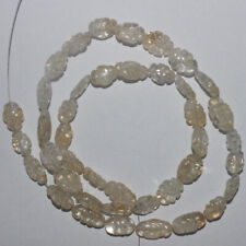 75CARTS 16'' 6x8to7x10MM NATURAL GEMSTONE CITRINE CARVED OVAL BEADS STRAND 809