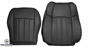 2008-2010 Chrysler 300 C 300C-Driver Side Complete Leather Seat Covers Dark Gray