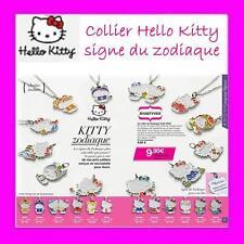Bonito Collar Colgante Hello Kitty Signo Zodiacal Avon - 12 Signos a Elegir