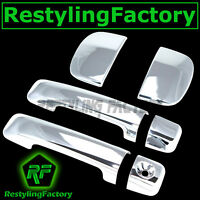 07-14 TOYOTA TUNDRA DOUBLE CAB Chrome 4 Door Handle no Passenger Keyhole Cover