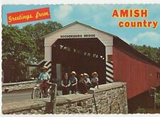 Amish Country Soudersburg Bridge USA 1995 Postcard 092a