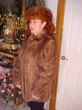 UNIQUE PATTERN Ladies Autumn Haze Mink Coat Jacket S/M GORGEOUS!