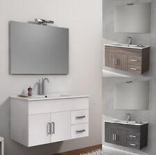 Mobile per Bagno da 100cm 3 colori bianco wengè o larice con lavabo in ceramica