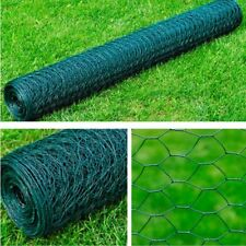 1x25m Chicken Wire Pet Mesh Fence Fencing Coop Aviary Galvanised 6 Octagonal
