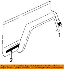 Jeep CHRYSLER OEM 92-96 Cherokee Exterior-Lower Molding Trim Left 5DA09LXZ