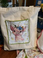 New listing Embroidered Baby Go Bag with Changing pad and Shopping Cart Cover 5 pc Set