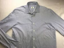 BORRELLI NAPOLI LONG SLEEVE BUTTON DOWN DRESS SHIRT 15.5 - 36/37 EUR 40 STRIPED