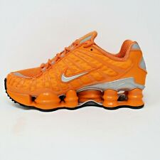 Nike Shox TL Total Clay Orange Metallic Silver Shoes Mens Sz 4.5, Womens Size 6
