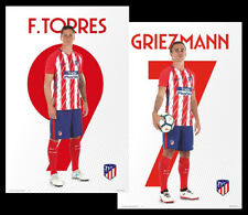 Atletico Madrid FERNANDO TORRES and ANTOINE GRIEZMANN Official Superstar POSTERS