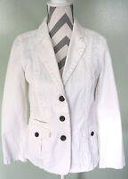 EDDIE BAUER Womens White 100% Cotton Jacket Coat Size Small