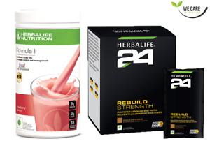 HERBALIFE - F1 Shake Mix Strawberry 500G + H24 Rebuild Strength Whey Protein