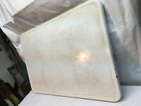 Vtg 1940 Enamel Metal Table Top White  Porcelain36.in x24in Farm House Country