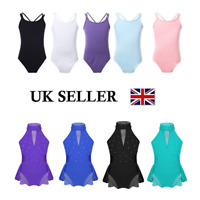UK Kids Girl Gymnastics Ballet Dance Leotard Unitard Modern Ballroom Dance Dress