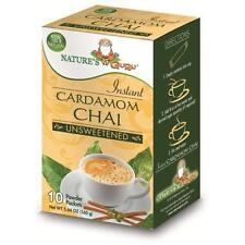 Natures Guru Cardamom Chai Unsweetened Drink Mix - 1 box Pack of 10