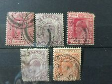 Ceylon  5 Edward Old Stamps