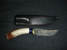 Ken C Largin KC Kelgin Damascus knife fixed blade & sheath