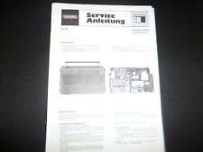 Original Service Manual Schaltplan Grundig Satellit 3400
