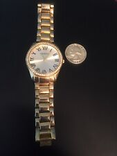 Goldtone Geneva Lady's Wrist Watch, Running With New Battery,
