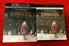 Schindler's List 25th Anniversary (4K + Blu ray + Digital) Le New W/ Slip Cover