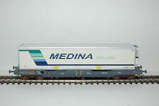 Wagon KM Gris Bleu Caisse Mobile Frigo MEDINA SNCF LS MODELS - LSM 30312 - 1/87